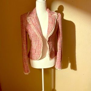 Guess Pink Satin and Lace Jacket